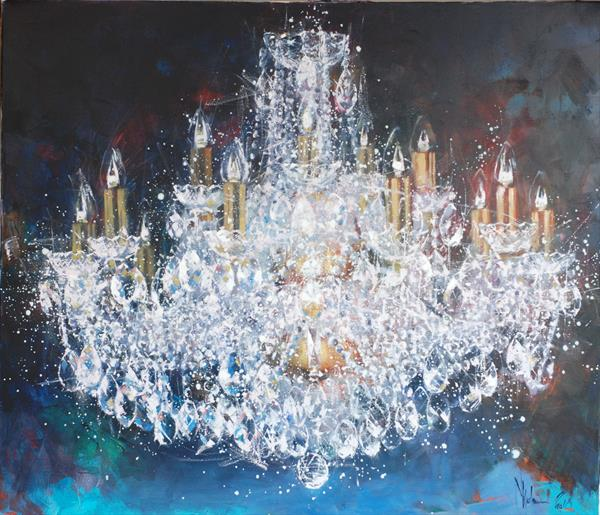 Large cristal chandlier. 4 try. by Igor Shulman