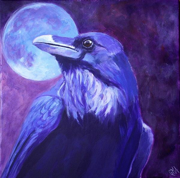 Night raven by Gill Aitken