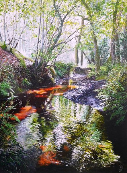 The Old Mill Stream  by Paula Oakley