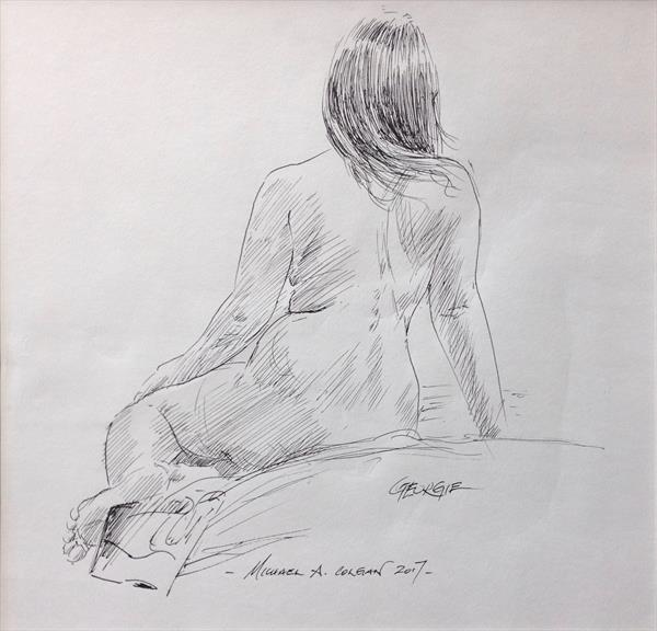 Seated Nude by Michael Colgan