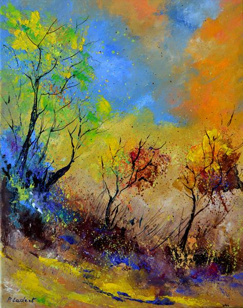 Autumn in the wood  by Pol Ledent