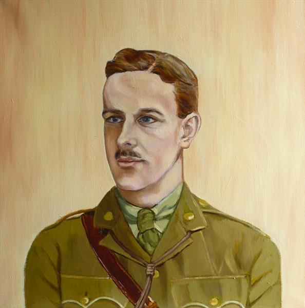 WW1 infantry officer 1916 by Christopher Clark