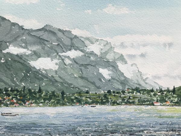 Clouds over Como by Peter Blake
