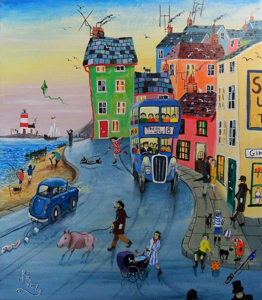 Along The Seafront by Rod Buckingham