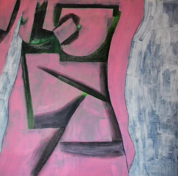 Pink Cubist Nude by Royston Williams