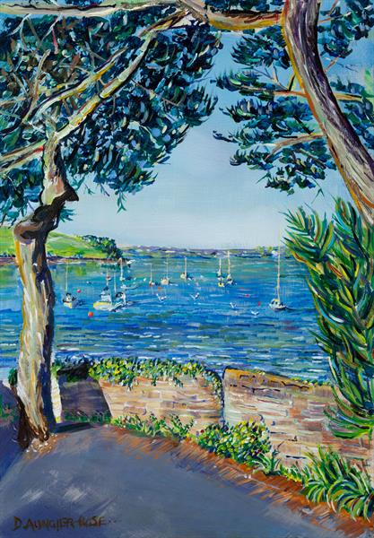 ST MAWES MOORINGS by Diana Aungier - Rose