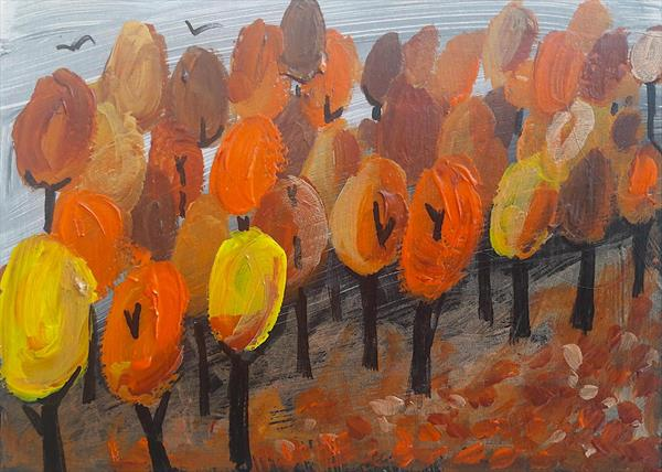 Lollipop Autumn Trees by Teresa Tanner