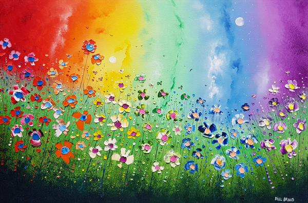 """Magical Rainbow Flowers in Love"""