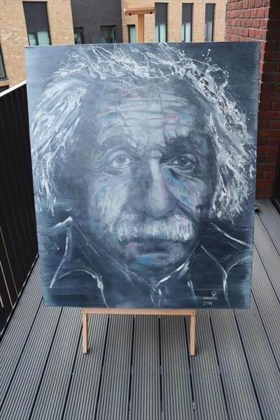 Albert Einstein by Lena Ivanova