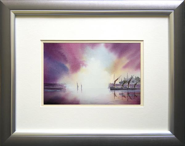 Original Harbour Sunrise Landscape by David Coy by David Coy