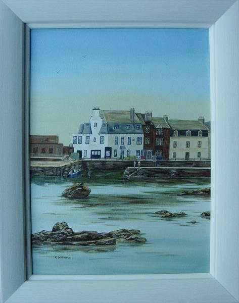 Millport Harbour (With Frame) by Kerri Nathwani