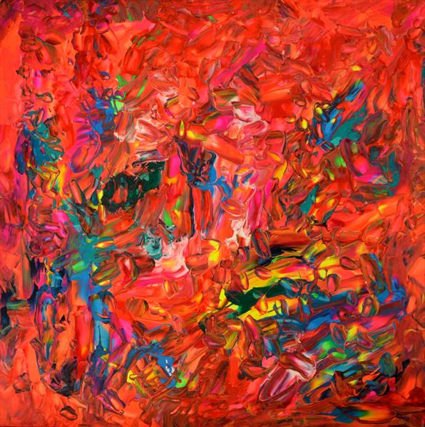 Gypsy I - XL Large Modern Abstract Big Painting - Ready to Hang by Soos Tiberiu - Anton