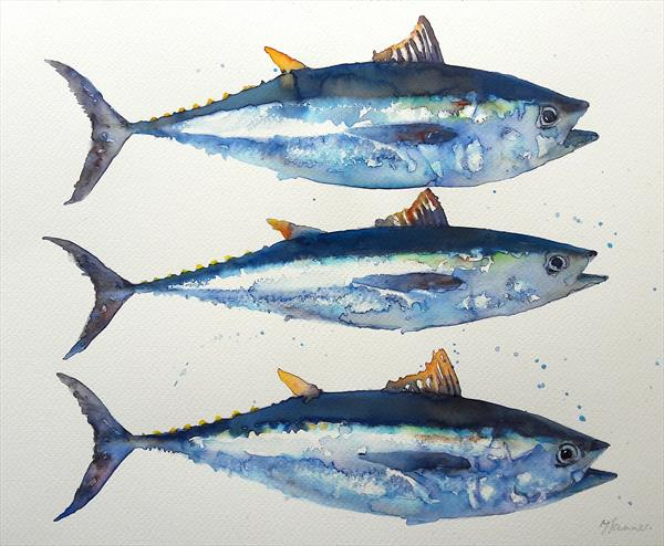 Three Blue Fish