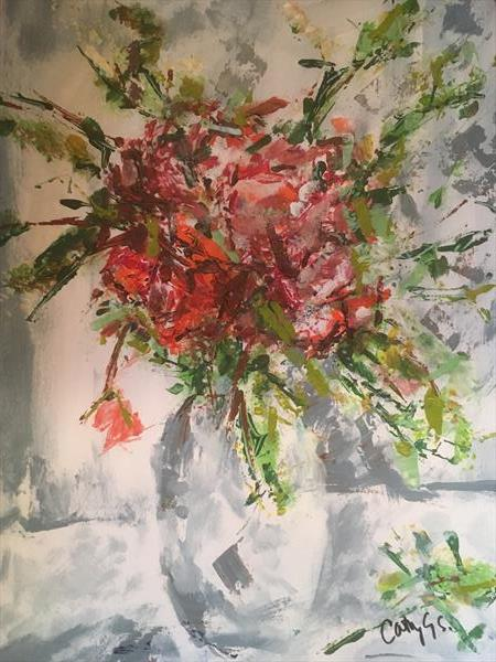 Flowers in a vase by catherine George-Samuels