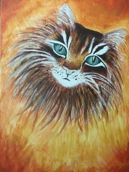 Striking Cat by Katy Louise Wainwright