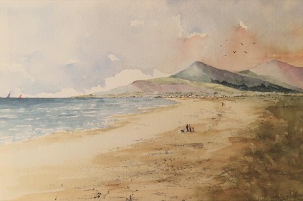 Canvas print of The Mountains Of Mourne by Brian Tucker