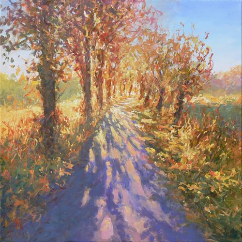Country Lane (On Display At Art Gallery, Tetbury)