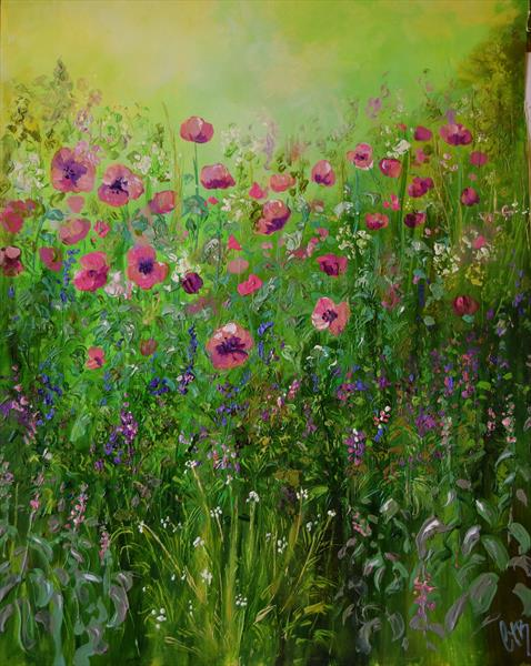 Herbaceous Border  by Colette Baumback