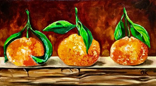 Clementines, still life by Olga  Koval
