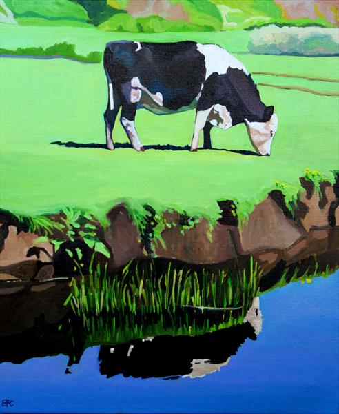 Grazing At Pwll Du by Emma Cownie