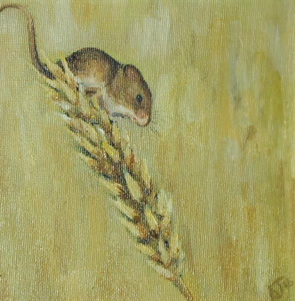 Mouse on Barley by Alex Jabore
