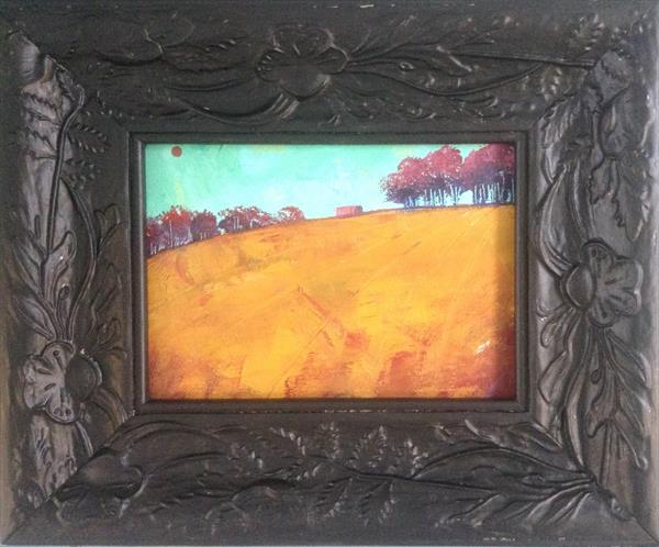 The Red Barn  ( framed original) by Sarah Gill