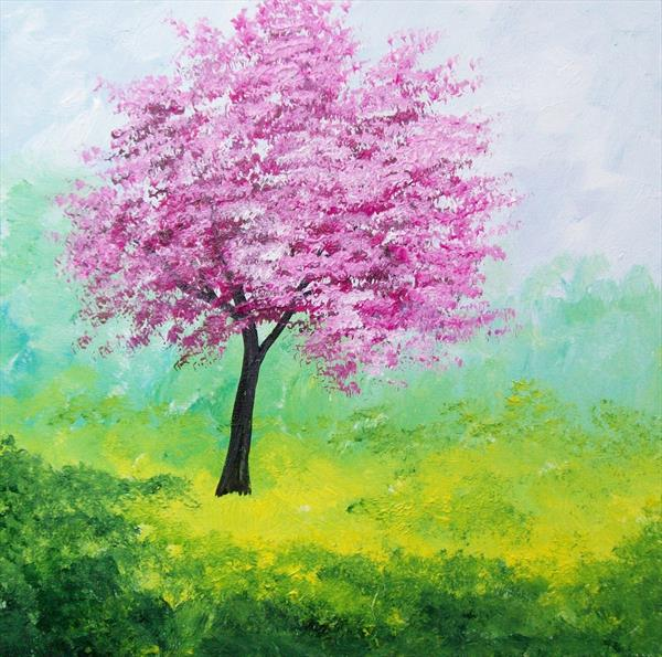 Pink Blossom Tree 2# by Patricia Richards