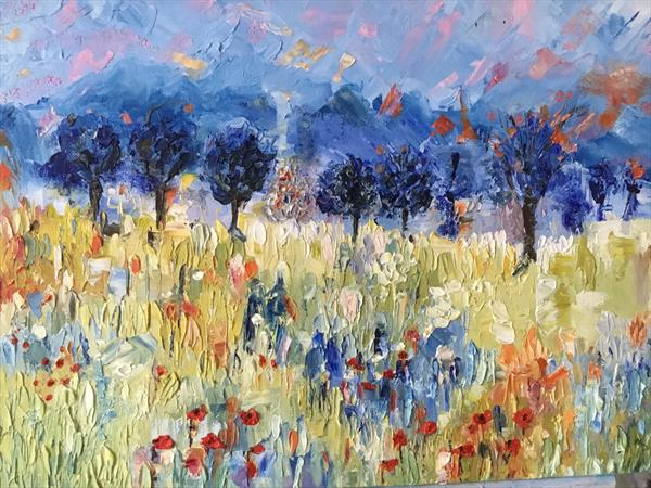 Assignation....the Poppy field. by Phyllis Denton