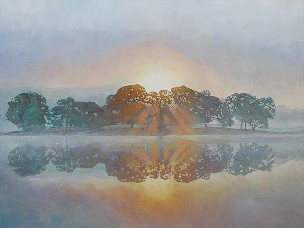 Mist On Esthwaite Water by Paul Burgess