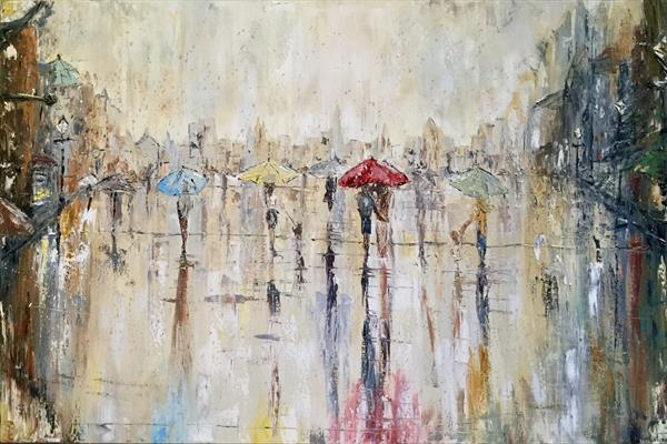 Summer showers and City Sights  by Pippa Buist