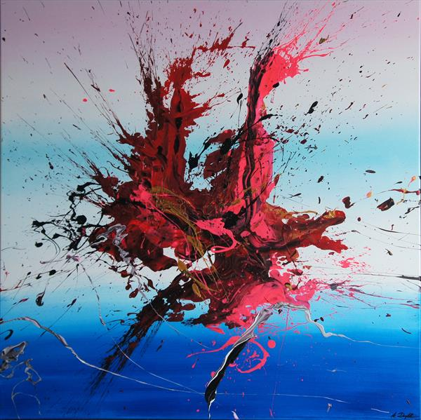 Emotional Release IV (Spirits Of Skies 081041) - 90 x 90 cm - XL (36 x 36 inches) by Ansgar Dressler