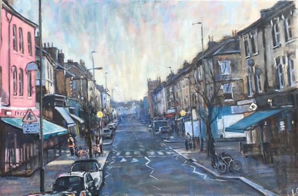 Northcote Road, winter light by Louise Gillard