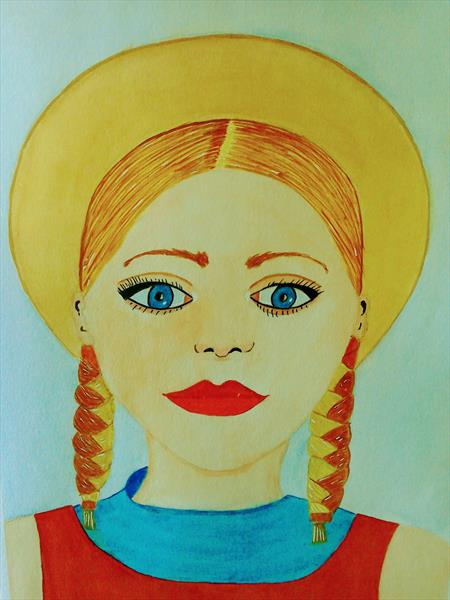 Girl with a hat by Phillip Speakman