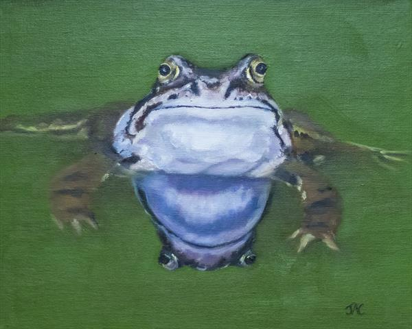 Frog Waiting by John Crabb