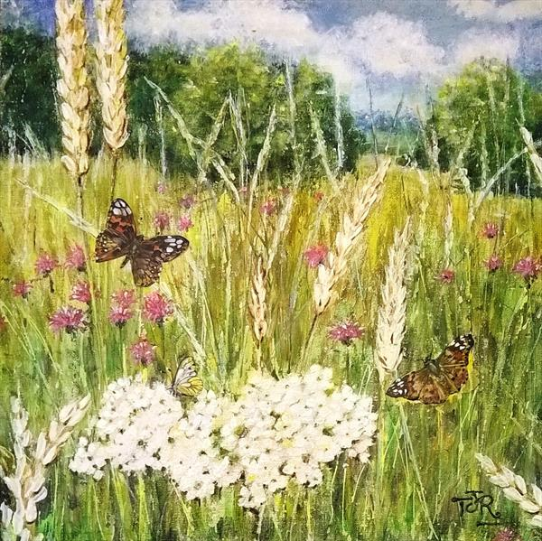 Meadowland - Painted Ladies Day by Theresa  Robinson