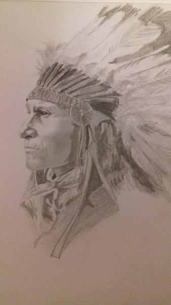 Indian Chief by Gillian Northmore