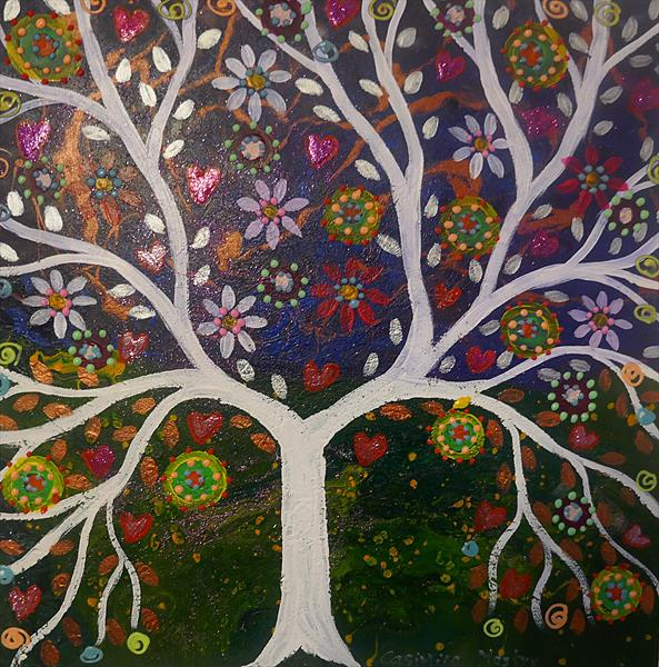 The Sparkly White Tree by Casimira Mostyn