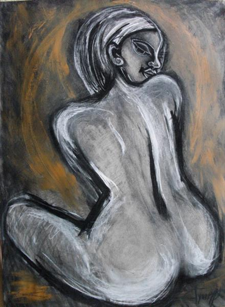 Attractive - Female Nude by Carmen Tyrrell
