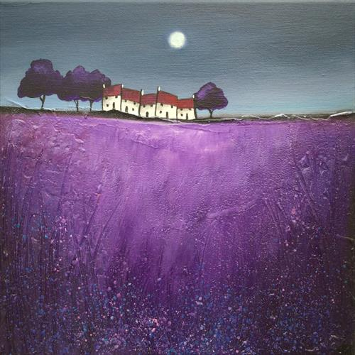 ORDER For Suzanne Small terrace on purple  by JANE PALMER