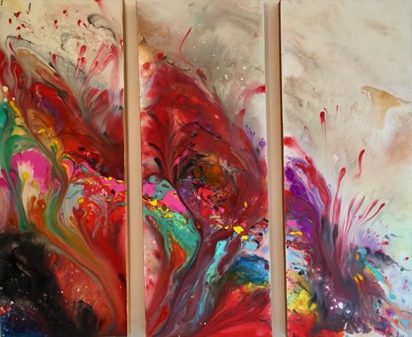 Explosion of energy TRIO by Pippa Buist
