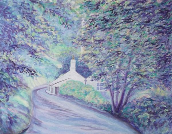 Cottage at Moorswater Viaduct by Sally Ann Barclay