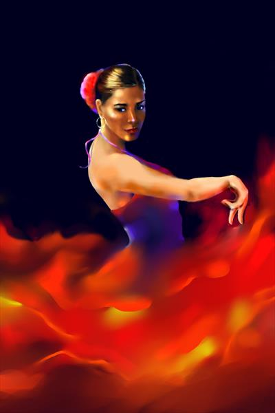 Passion of Dance, Flameco Dancer
