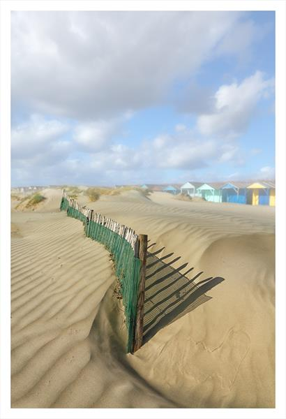 Beach Huts II by David Baker