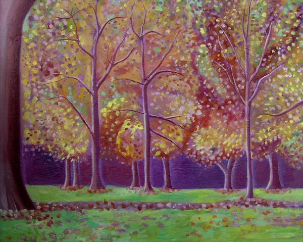 Autumn Trees in Hyde Park by Mary Stubberfield