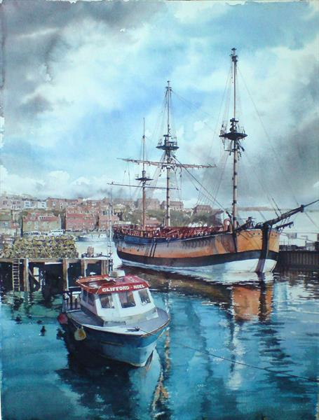 The Endeavour at Whitby by Shaun Myers