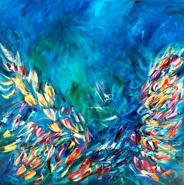 Bluebirds Fly by Victoria Horkan