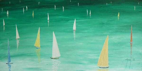 Tranquil Sails by Warren Green
