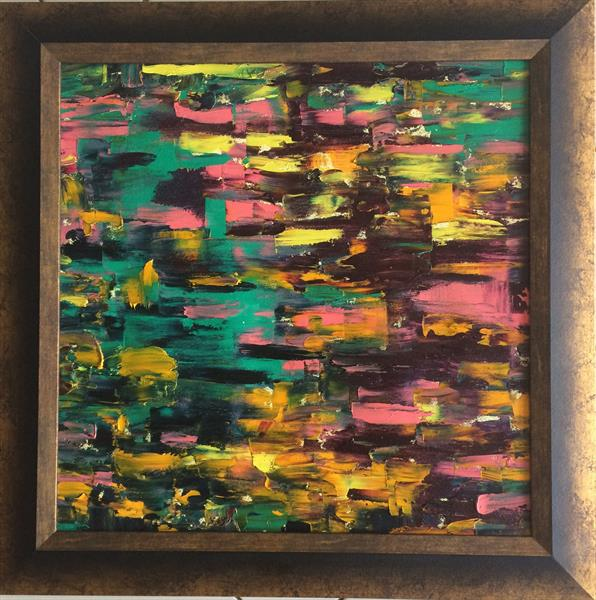 Original Abstract Oil Painting The fight by Mischa Sancheess