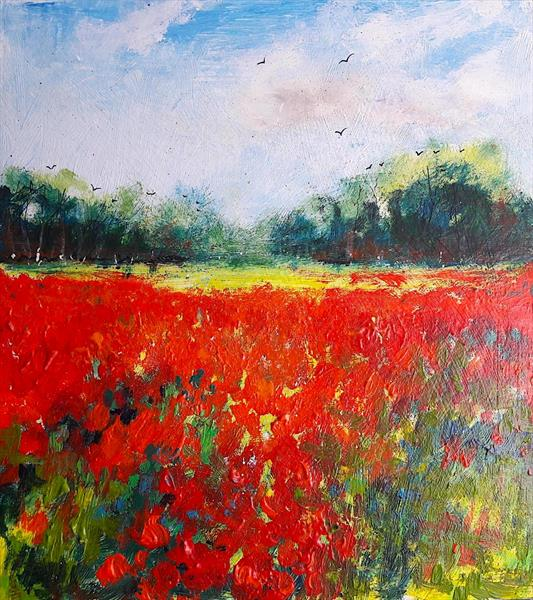 Impression of Poppies by Teresa Tanner