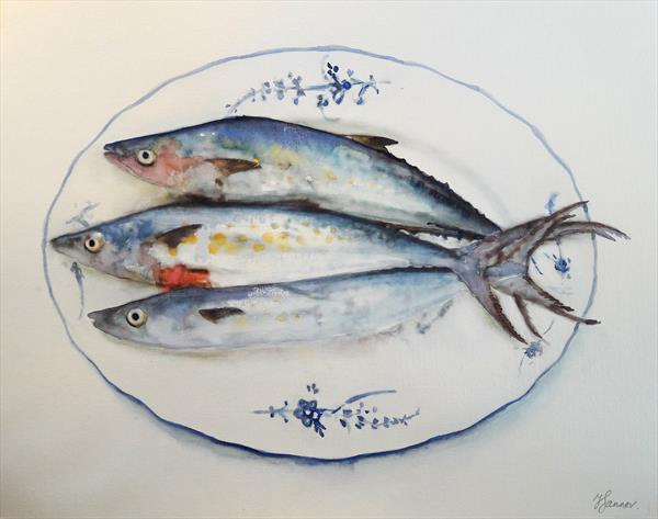 Three Fish on a China Plate